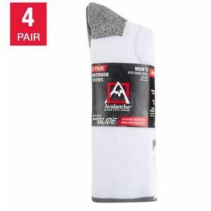 Avalanche Men's Crew Sock, 4-pair